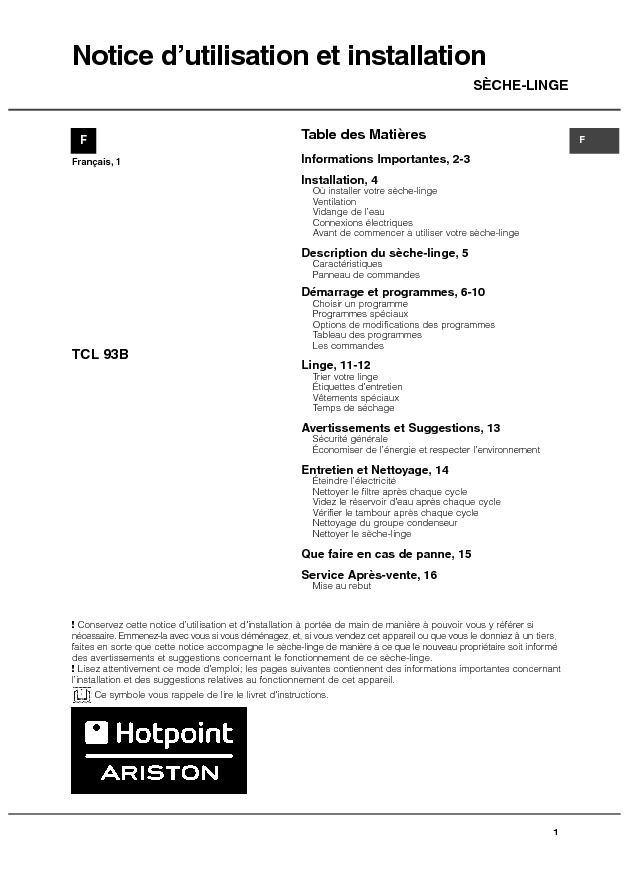 http://www.hotpoint.fr/ha/_pdf/manuals/19509551001_FR_BE.pdf