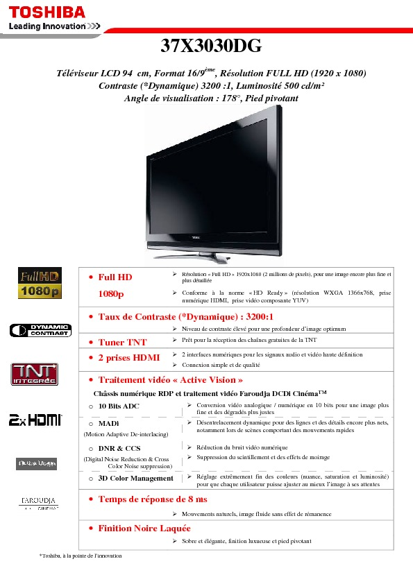 https://www.toshiba.fr/Contents/Toshiba_fr/FR/Others/support-tv/archives/37X3030DG.pdf