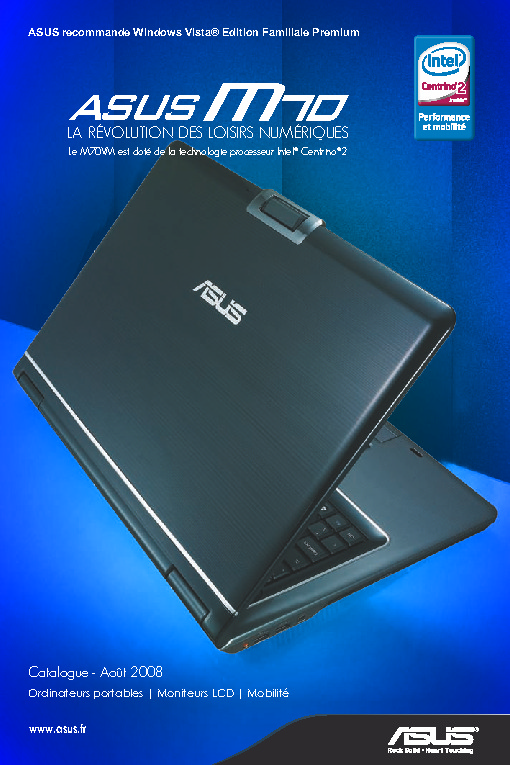 http://www.asus.fr/catalogue/Anciens/NB/2008/asus_nb_cat_Aout_2008.pdf