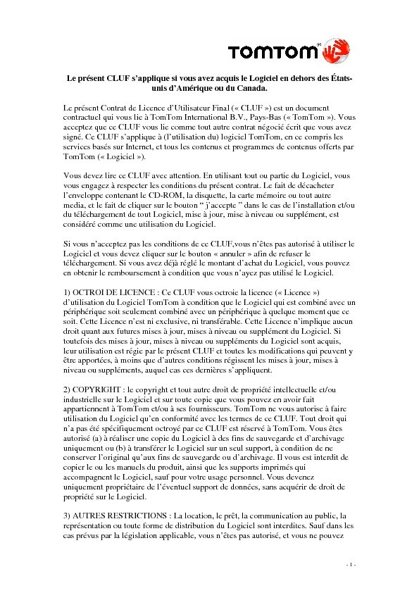 http://www.tomtom.com/lib/doc/legal/eula/EULA_Software_Only_-_French.pdf