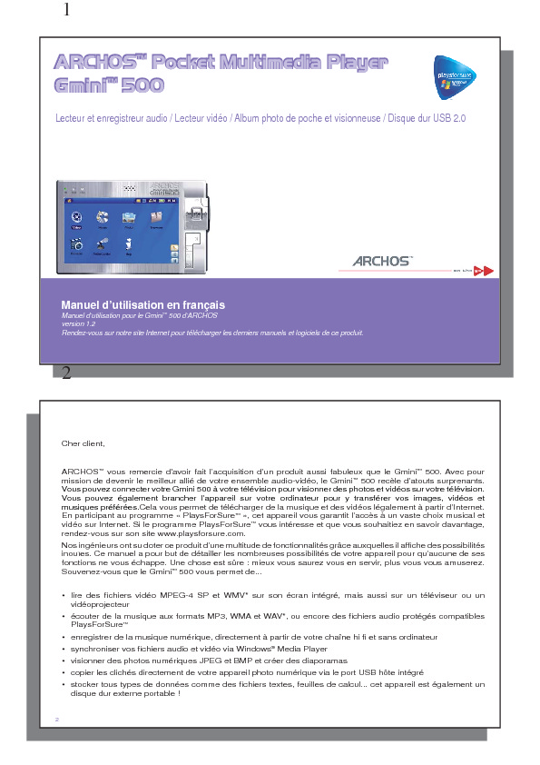 http://www.archos.com/support/download/manuals/FR_Gmini500_v12.pdf