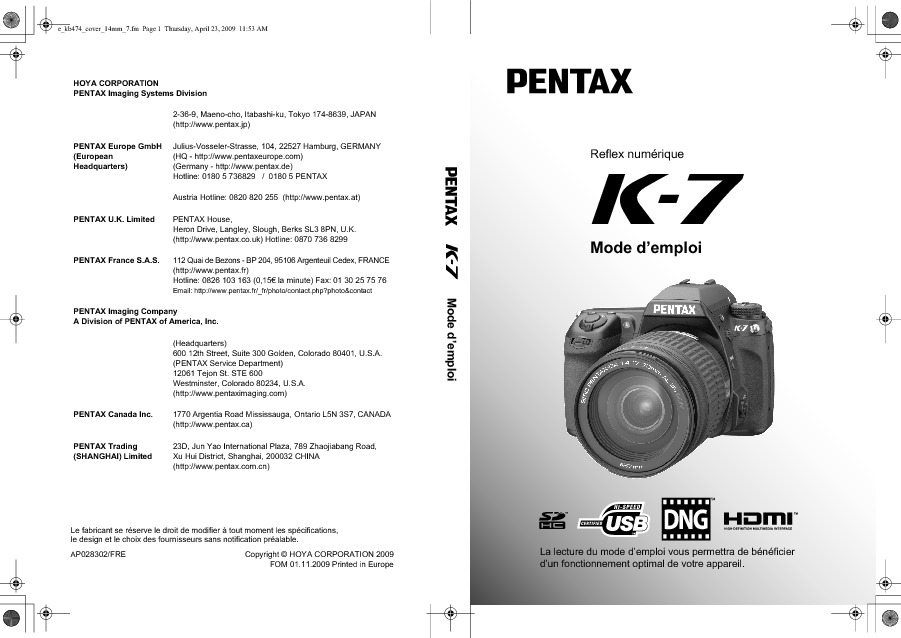 http://www.pentax.fr/media/cdf7254a65a5bce61c2a67c91b9da161/K7_OPM_Cover_FRE.pdf