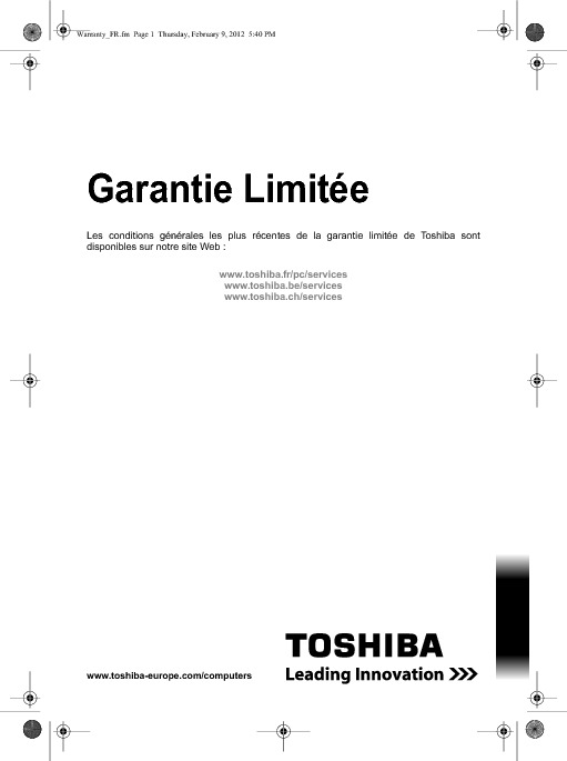 https://www.toshiba.fr/Contents/Toshiba_fr/FR/Others/Support/LivretdeGarantieStandard.pdf