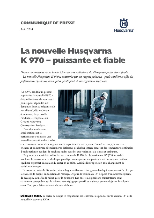 http://www.husqvarna.com/files/Press_release_K-970_French_updated.pdf