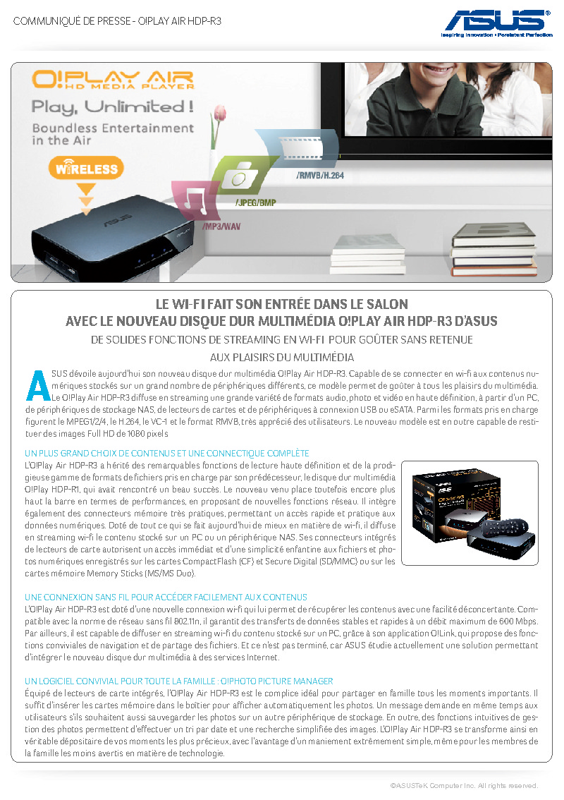 http://www.asus.fr/newsletter/Press_Release/OPlay_Air_HDP-R3/Press_Release_OPlay-Air.pdf