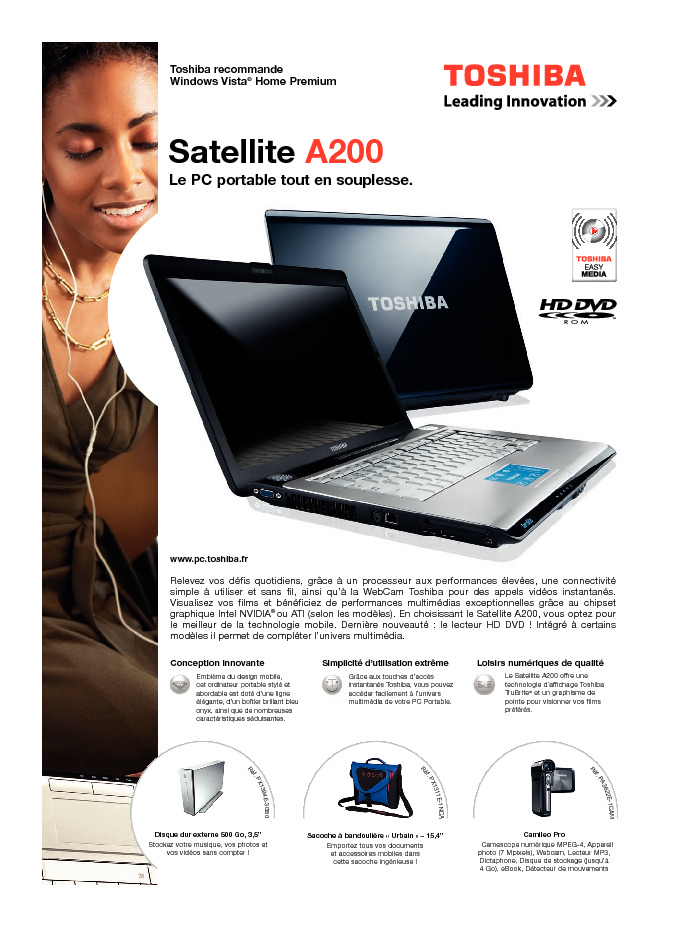 http://www.toshiba.fr/Contents/Toshiba_fr/FR/Others/pdf/satellite_a200.pdf