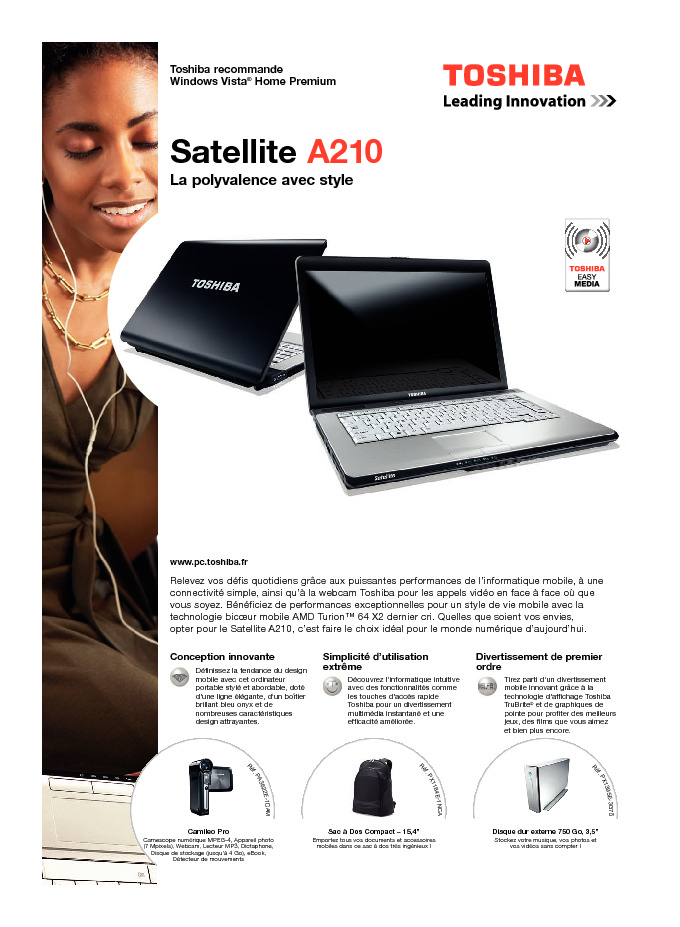 http://www.toshiba.fr/Contents/Toshiba_fr/FR/Others/pdf/satellite_a210.pdf