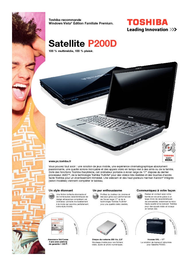 http://www.toshiba.fr/Contents/Toshiba_fr/FR/Others/pdf/satellite_p200d.pdf
