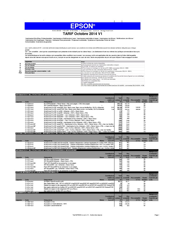 http://www.epson.fr/files/ckeditor/t/a/r/i/Tarif_EPSON-10-2014_V1_-_Activer_les_macros_2.pdf