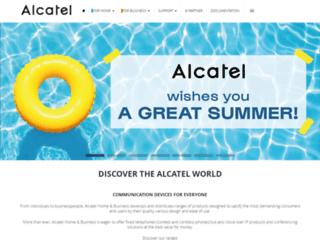 Aperçu du site http://www.alcatel-home.com/