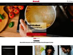 Aperçu du site http://www.brandt.fr/