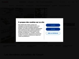 Aperçu du site http://www.canon.fr/