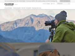 Aperçu du site http://www.fujifilm.fr/