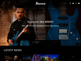 Aperçu du site http://www.ibanez.com/