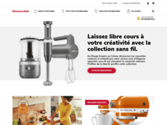 Aperçu du site http://www.kitchenaid.fr/