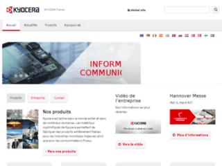 Aperçu du site http://www.kyocera.fr/