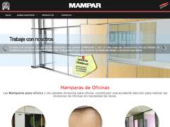 Aperçu du site http://www.mampar.es/