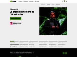 Aperçu du site http://www.nvidia.fr/