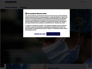 Aperçu du site http://www.olympus.fr/