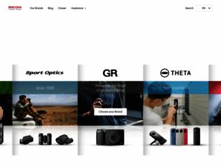 Aperçu du site http://www.pentax.fr/