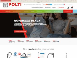 Aperçu du site http://www.polti.fr/