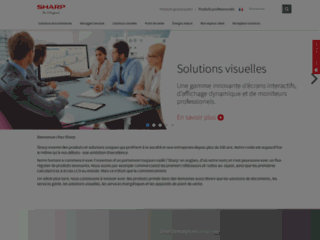 Aperçu du site http://www.sharp.fr/
