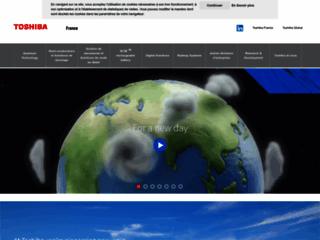 Aperçu du site http://www.toshiba.fr/