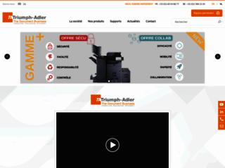 Aperçu du site http://www.triumph-adler.fr/