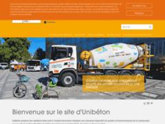 Aperçu du site http://www.unibeton.fr/