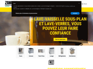 Aperçu du site http://www.zanussiprofessional.fr/